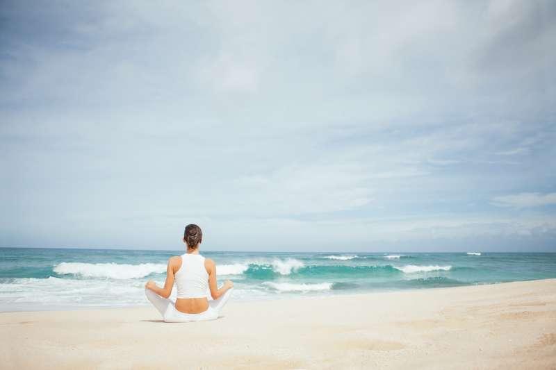 Beach meditating