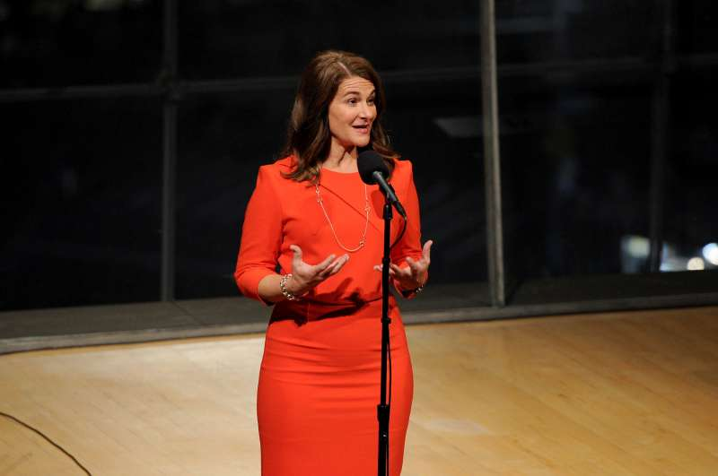Melinda Gates speaks on stage during The Moth's  Stories Of Women In The  World  special community program showcase at Lincoln Center on September 20, 2016 in New York City.