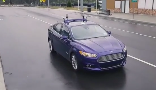Ride Along On a Test Drive in a Self-Driving Ford Fusion