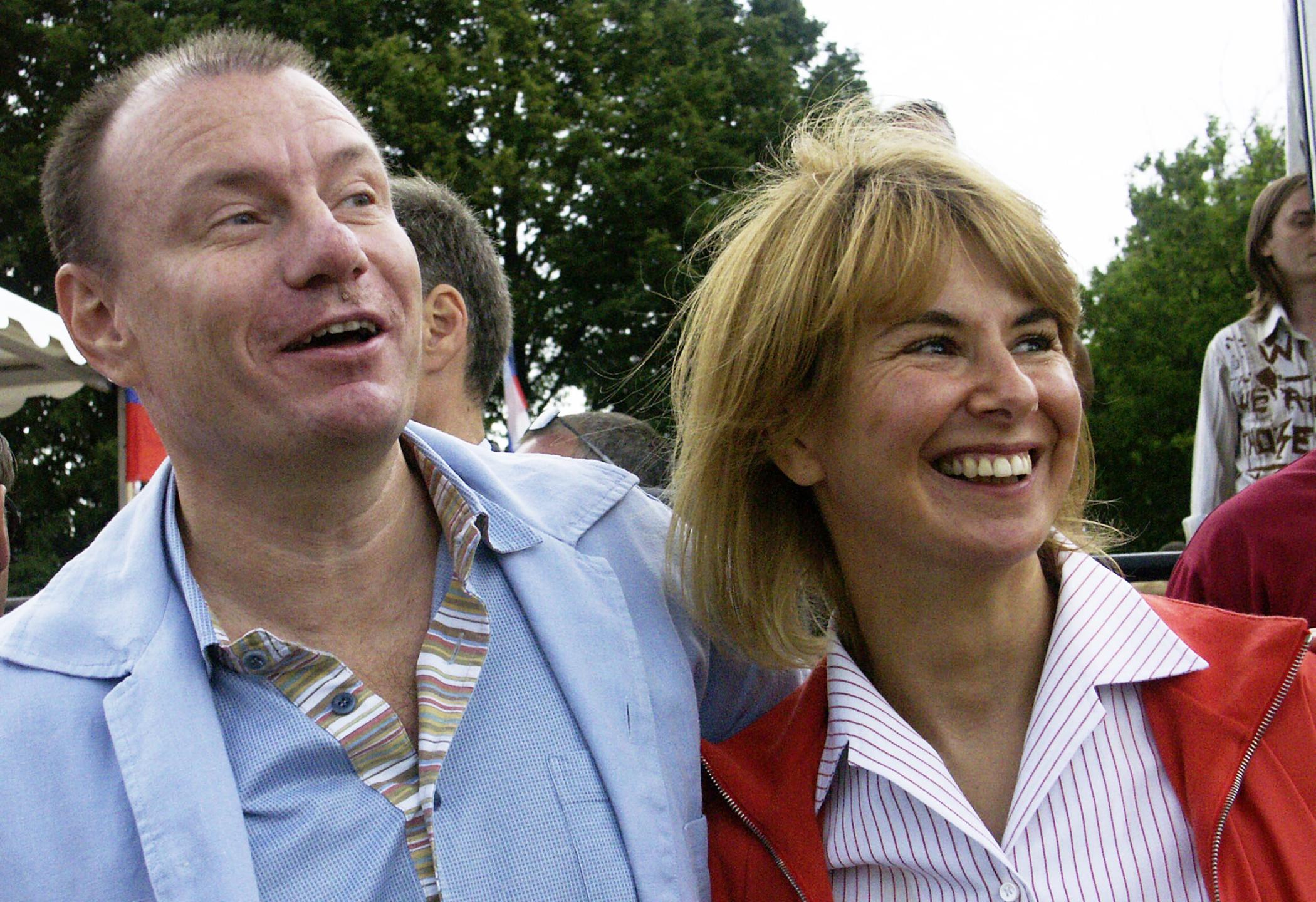 Vladimir Potanin with wife Natalia Potanina at