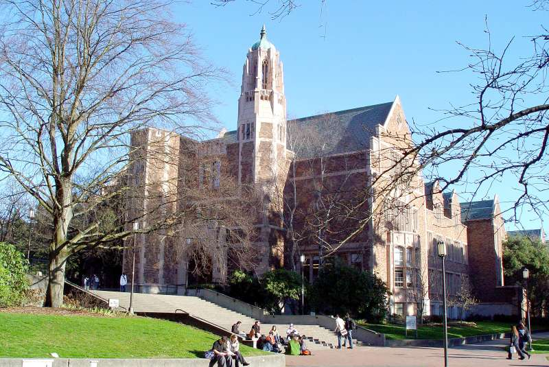 View of the University of Washington campus in Seattle, Washington.