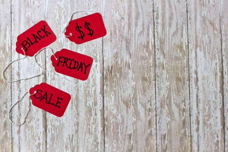 Black Friday Sales Tab on Wood Board