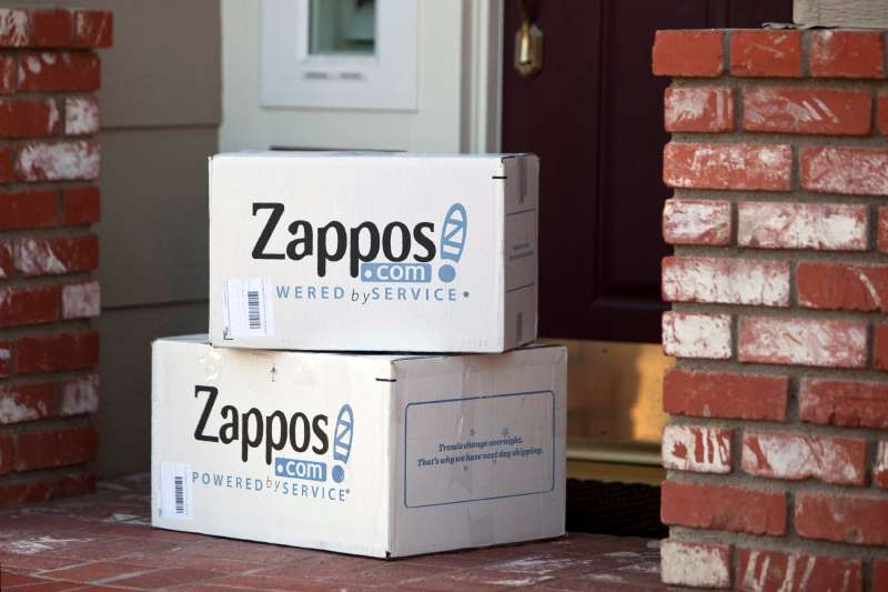 Zappos shipping boxes delivered to home in Aliso Viejo, California, April 22, 2012.