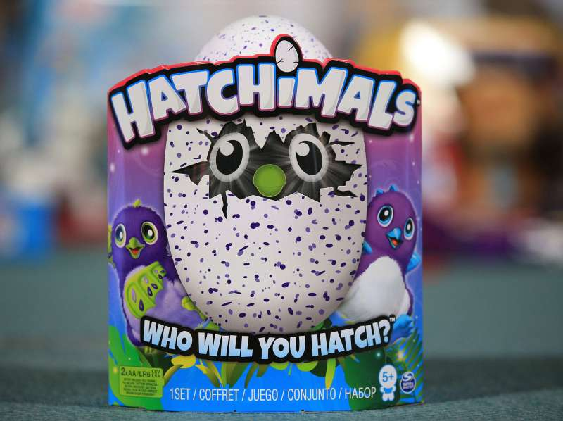 Top selling Christmas toys predicted. Hatchimals on display