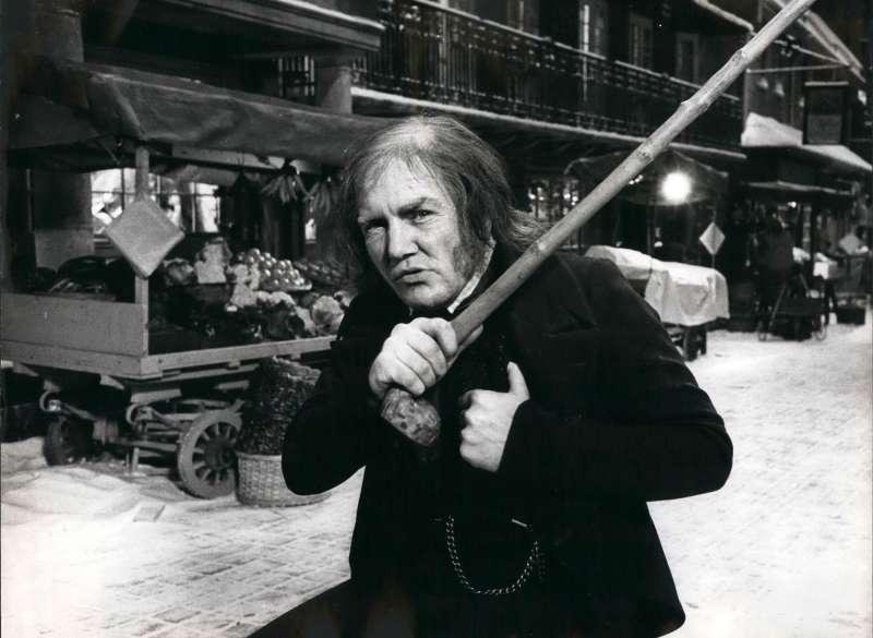 Albert Finney as Ebenezer Scrooge in 1970.