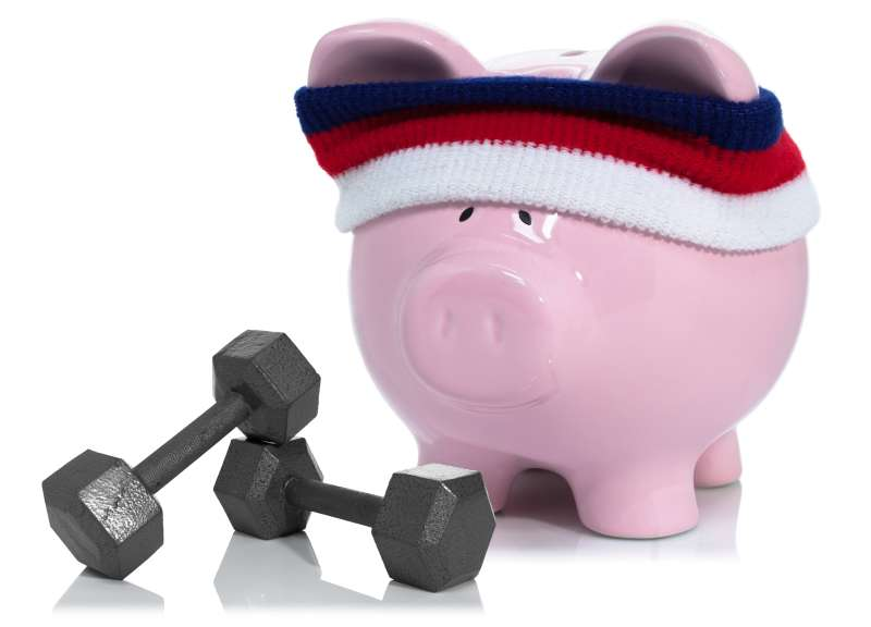Building your savings, ppiggy bank working out