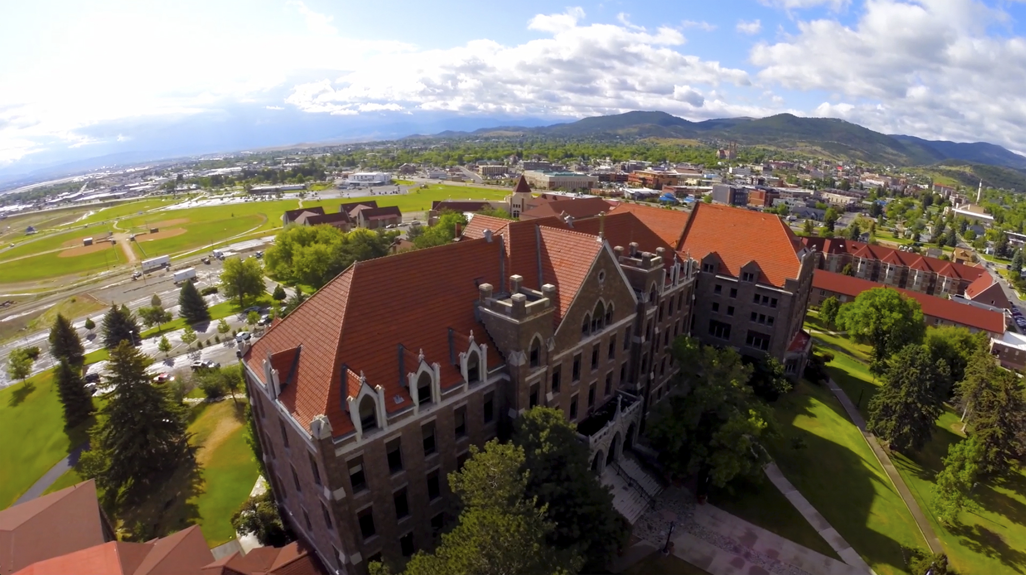 Carroll College aerial.