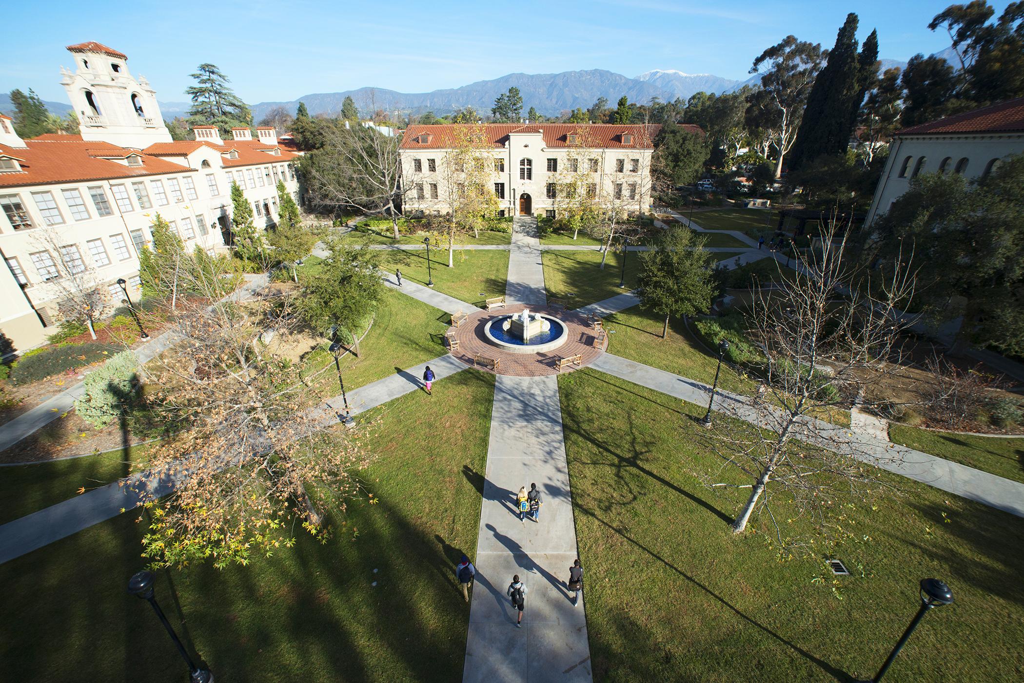 Quad at Pomona College.