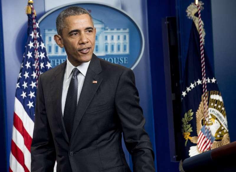 Obama speaks in White House press room