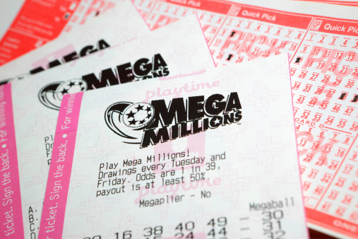 Tickets for the Mega Millions lottery game.