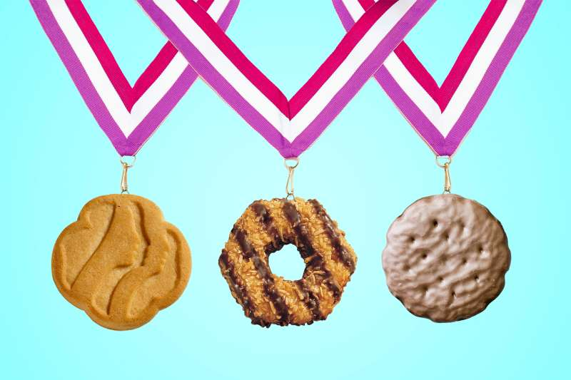 GIrl Scout Cookie Medals
