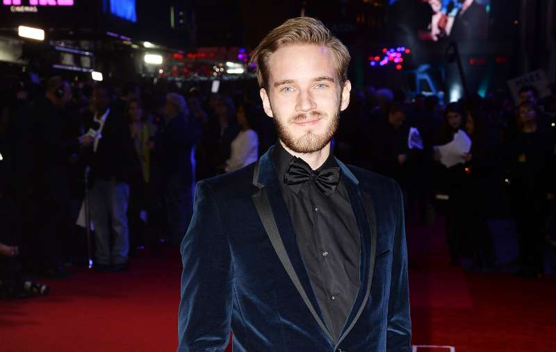 LONDON, ENGLAND - DECEMBER 16:  PewDiePie attends the European Premiere of  Star Wars: The Force Awakens  at Leicester Square on December 16, 2015 in London, England.