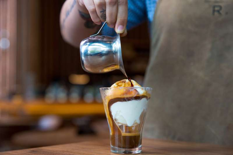 Ice cream beverages photographed at the Starbucks Reserve Roastery and Tasting Room. Photographed on Thursday, June 23, 2016. (Joshua Trujillo, Starbucks)