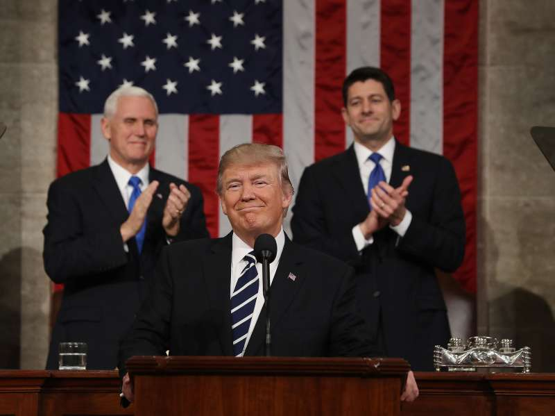 President Trump Delivers First Address To Joint Session Of Congress