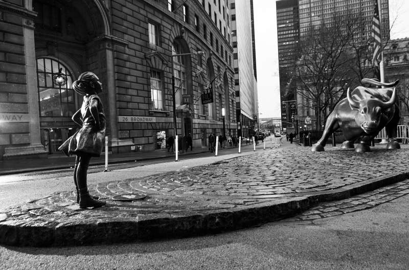 State Street Bull and Girl Statue
