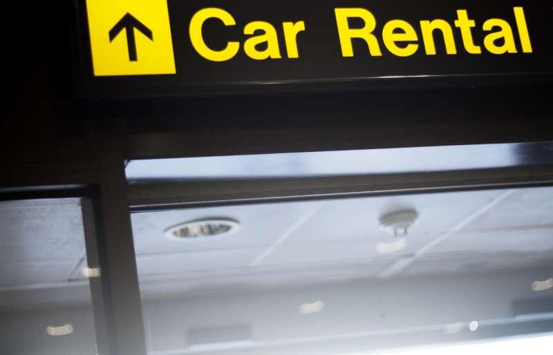 Airport information car rental sign