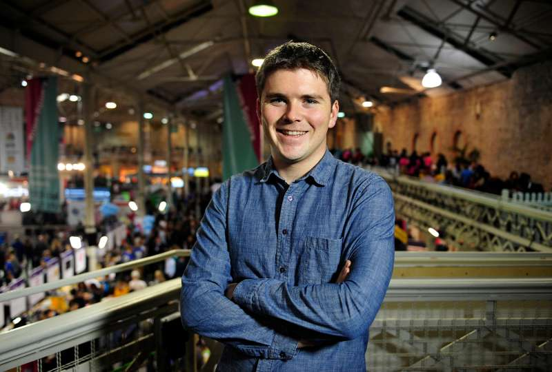 John Collison, co-founder and president of Stripe Inc., poses for a photograph following a Bloomberg Television interview at the Web Summit in Dublin, Ireland, on Wednesday, Nov. 4, 2015.