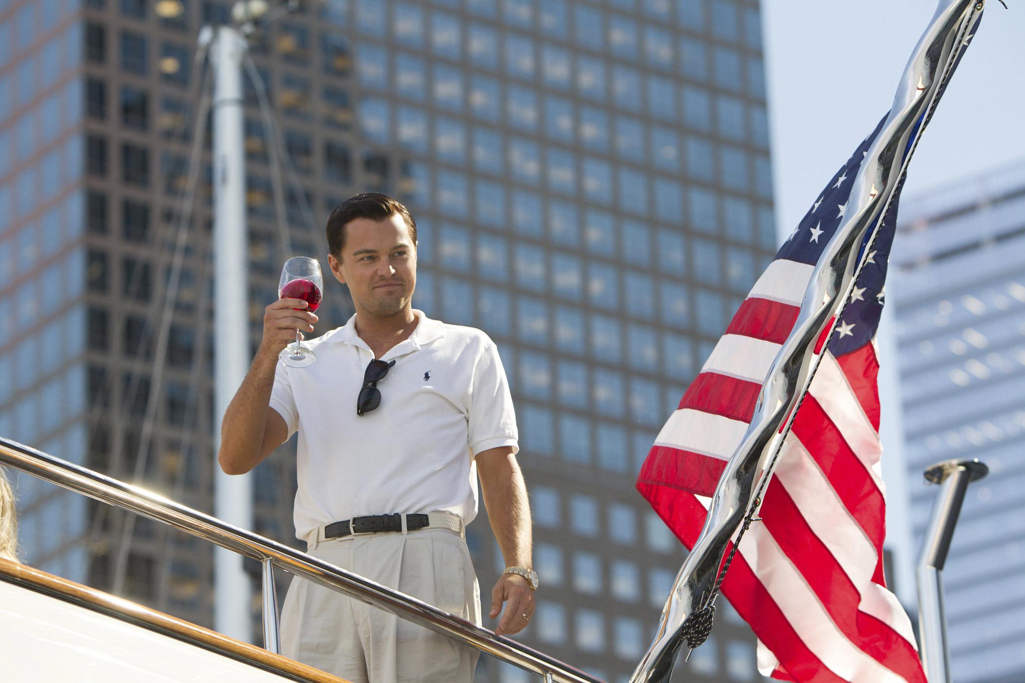 Leonardo DiCaprio plays Jordan Belfort in THE WOLF OF WALL STREET.