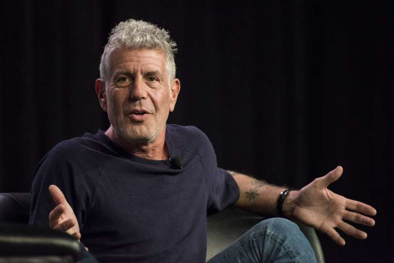 Anthony Bourdain, host of CNNs Parts Unknown, speaks during the South By Southwest (SXSW) Interactive Festival at the Austin Convention Center in Austin, Texas, U.S., on Sunday, March 13, 2016.