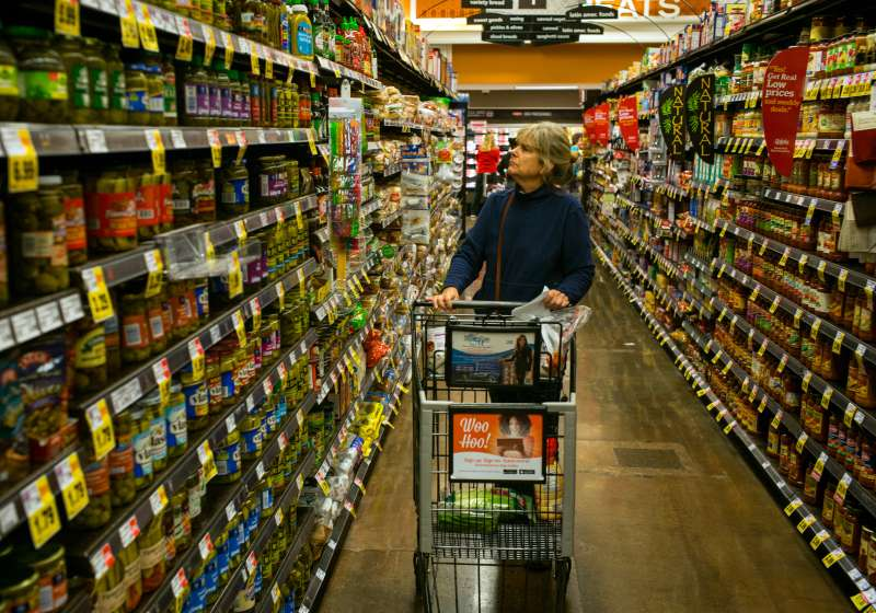 Shoppers At Ralphs Supermarket in Southern California