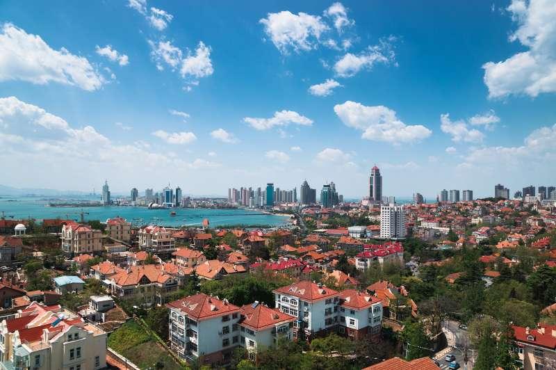 The Western urban area of Qingdao City, Shandong Province, China