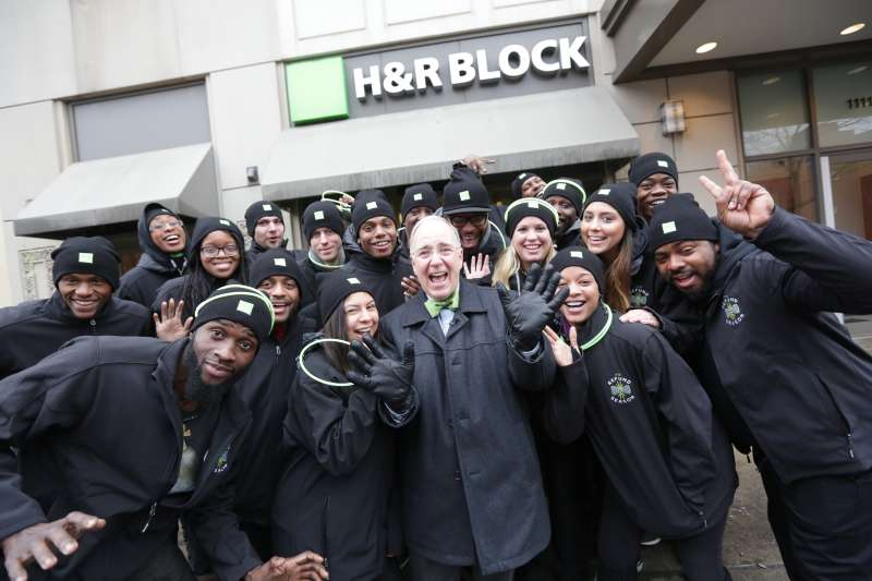 H&R Block's real-life tax pro and spokesperson, Richard Gartland at an H&R Block location in Chicago, Friday, January 15, 2016.