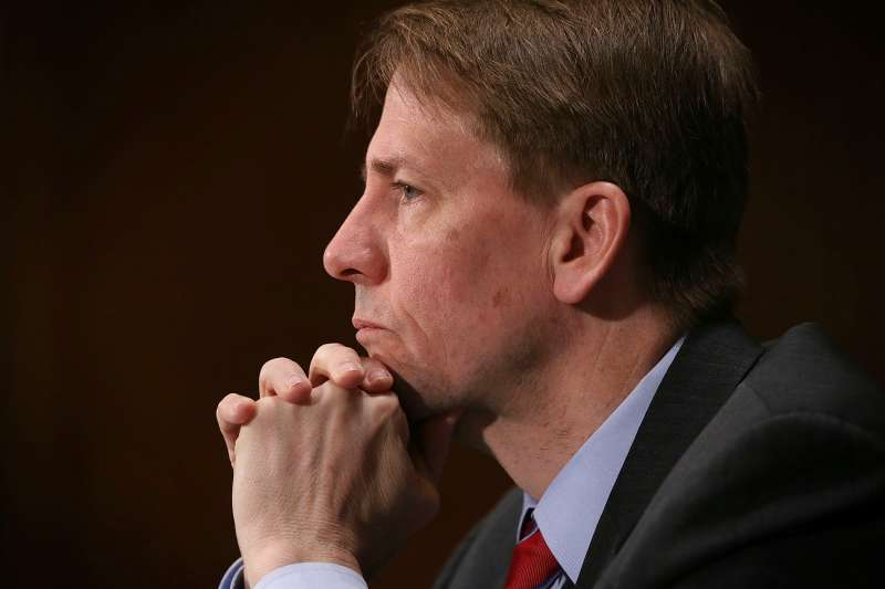 Director of the Consumer Financial Protection Bureau Richard Cordray testifies during a hearing before the Senate Banking, Housing and Urban Affairs Committee April 7, 2016 on Capitol Hill in Washington, DC. The committee held a hearing on  The Consumer Financial Protection Bureau's Semi-Annual Report to Congress.