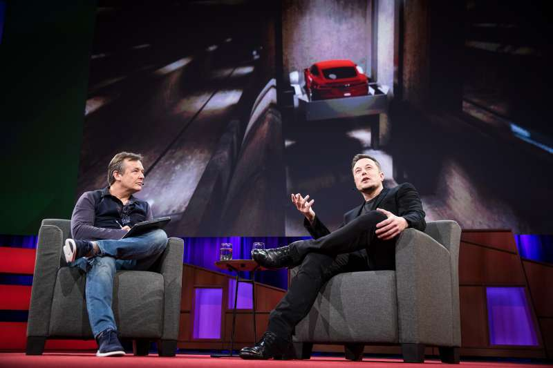 Chris Anderson interviews Elon Musk at TED2017 - The Future You, April 24-28, 2017, Vancouver, BC, Canada.