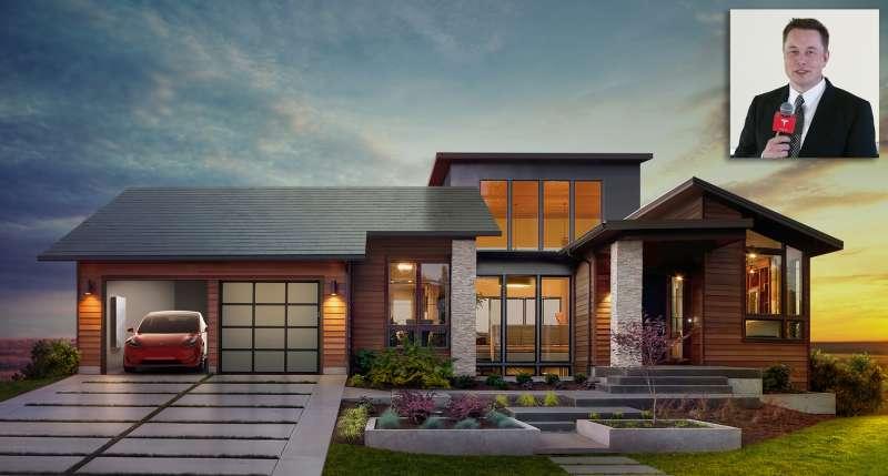 Tesla solar roof and Elon Musk