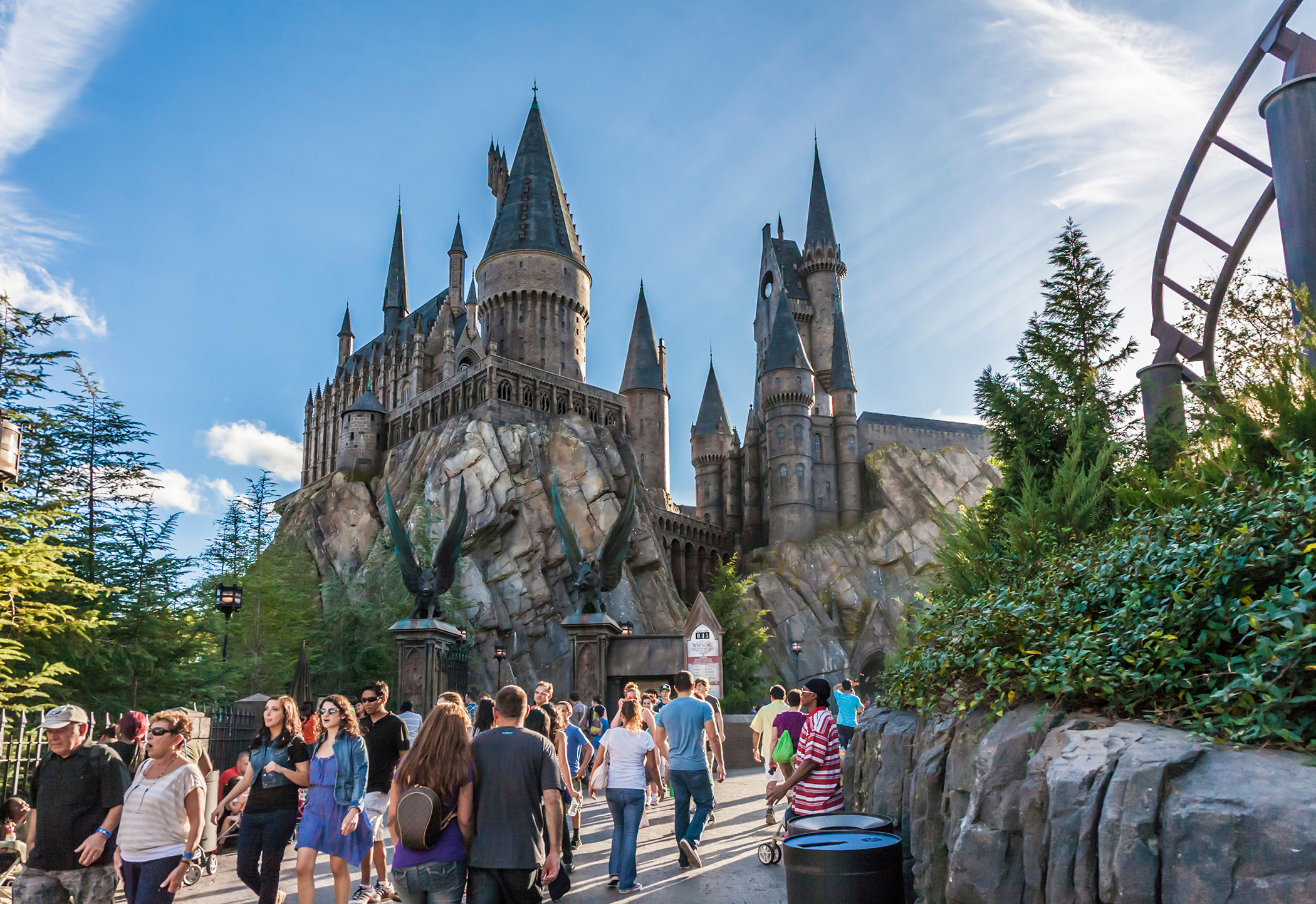 The Wizarding World of Harry Potter at Universal Studios Islands of Adventure, Orlando, FL.