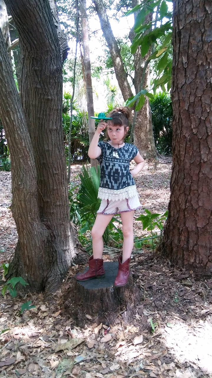 Chloe, Hettinger's granddaughter, plays with the original fidget spinner.