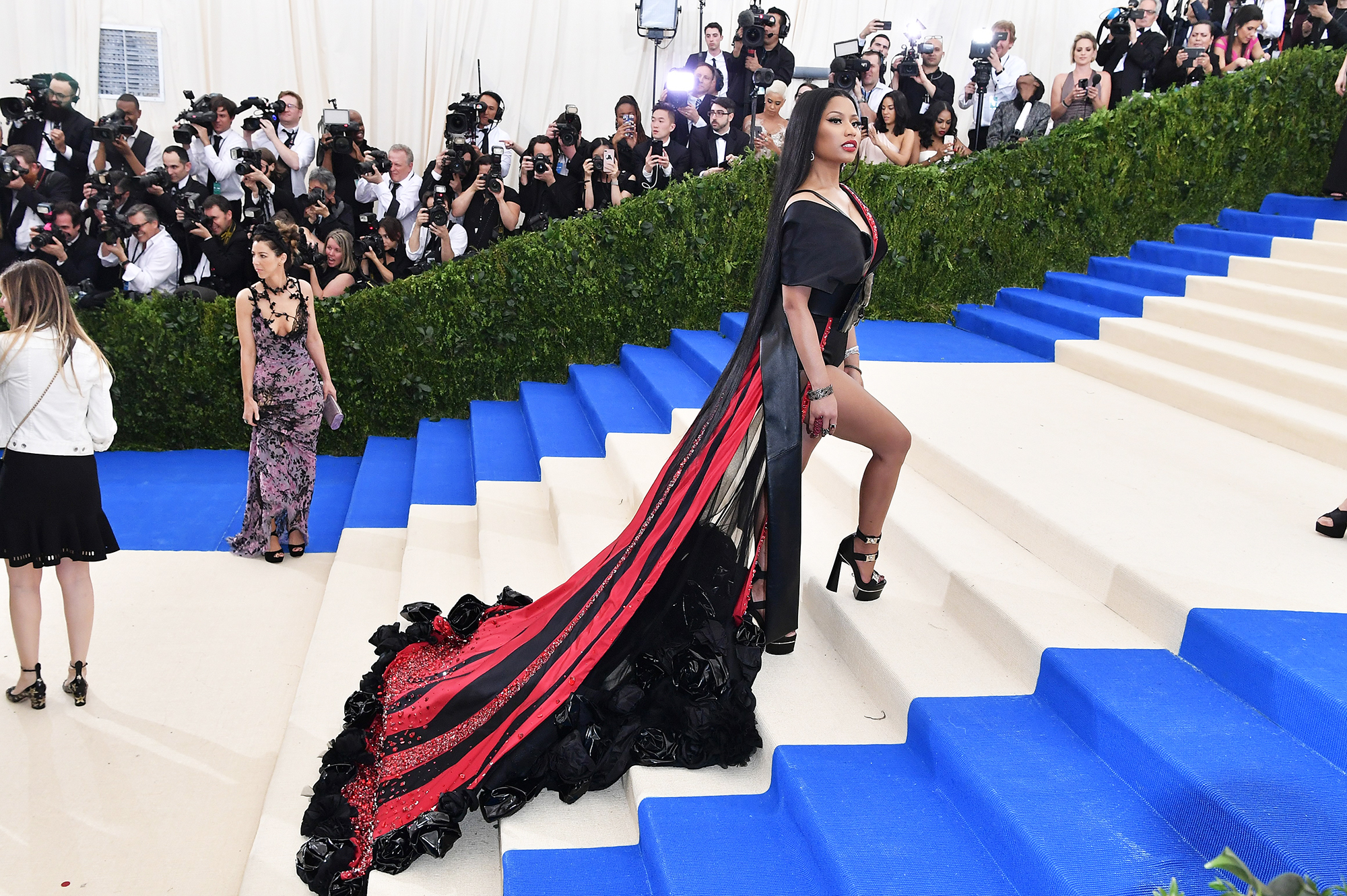 NEW YORK, USA - MAY 01 : Nicki Minaj attends the 'Rei Kawakubo / Comme des Garcons: Art Of The In-Between' Costume Institute Gala 2017 at Metropolitan Museum of Art in New York, United States on May 01, 2017. (Photo by Philip Rock/Anadolu Agency/Getty Images)