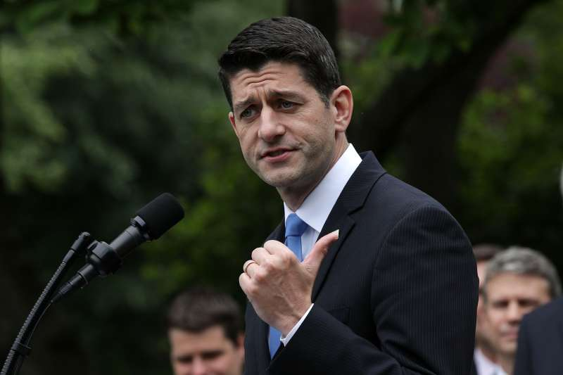Speaker of the House Rep. Paul Ryan (R-WI) speaks during a Rose Garden event May 4, 2017 at the White House in Washington, DC. The House has passed the American Health Care Act that will replace the Obama era's Affordable Healthcare Act with a vote of 217-213.