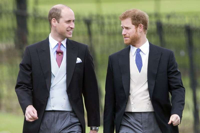 Prince William and Prince Harry Wedding of James Matthews and Pippa Middleton, St. Mark's Church, Englefield, United Kingdom, May 20, 2017.