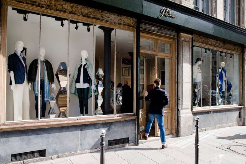 Retail Operations Inside A J. Crew Group Inc. Store