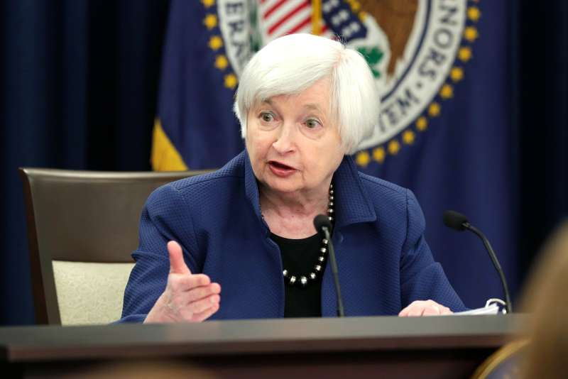 Federal Reserve Chair Janet Yellen speaks during a news conference after a two day Federal Open Market Committee (FOMC) meeting in Washington, March 15, 2017.