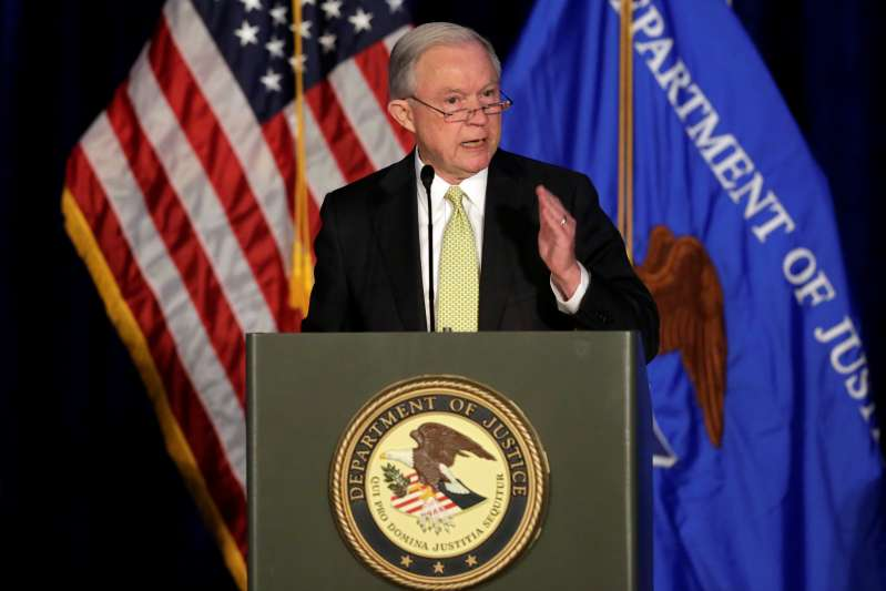 Attorney General Jeff Sessions delivers remarks at a summit on crime reduction