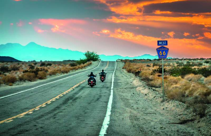 Route 66 motorbike riders.