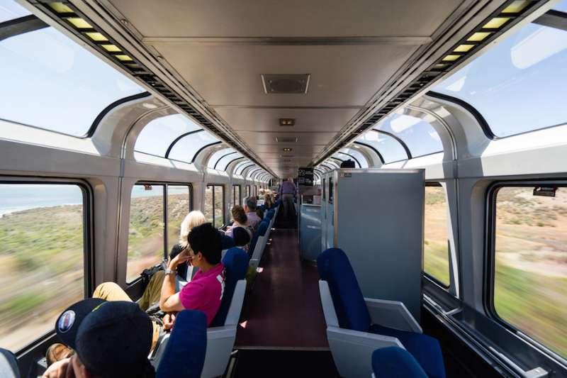 Scenic train travel, USA