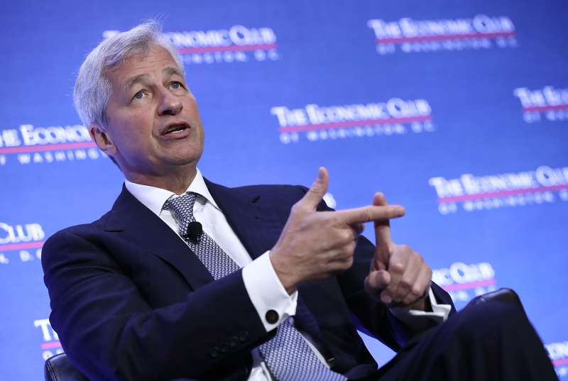 Jamie Dimon, Chairman and CEO of JPMorgan Chase & Co., speaks at the Economic Club of Washington September 12, 2016 in Washington, DC.