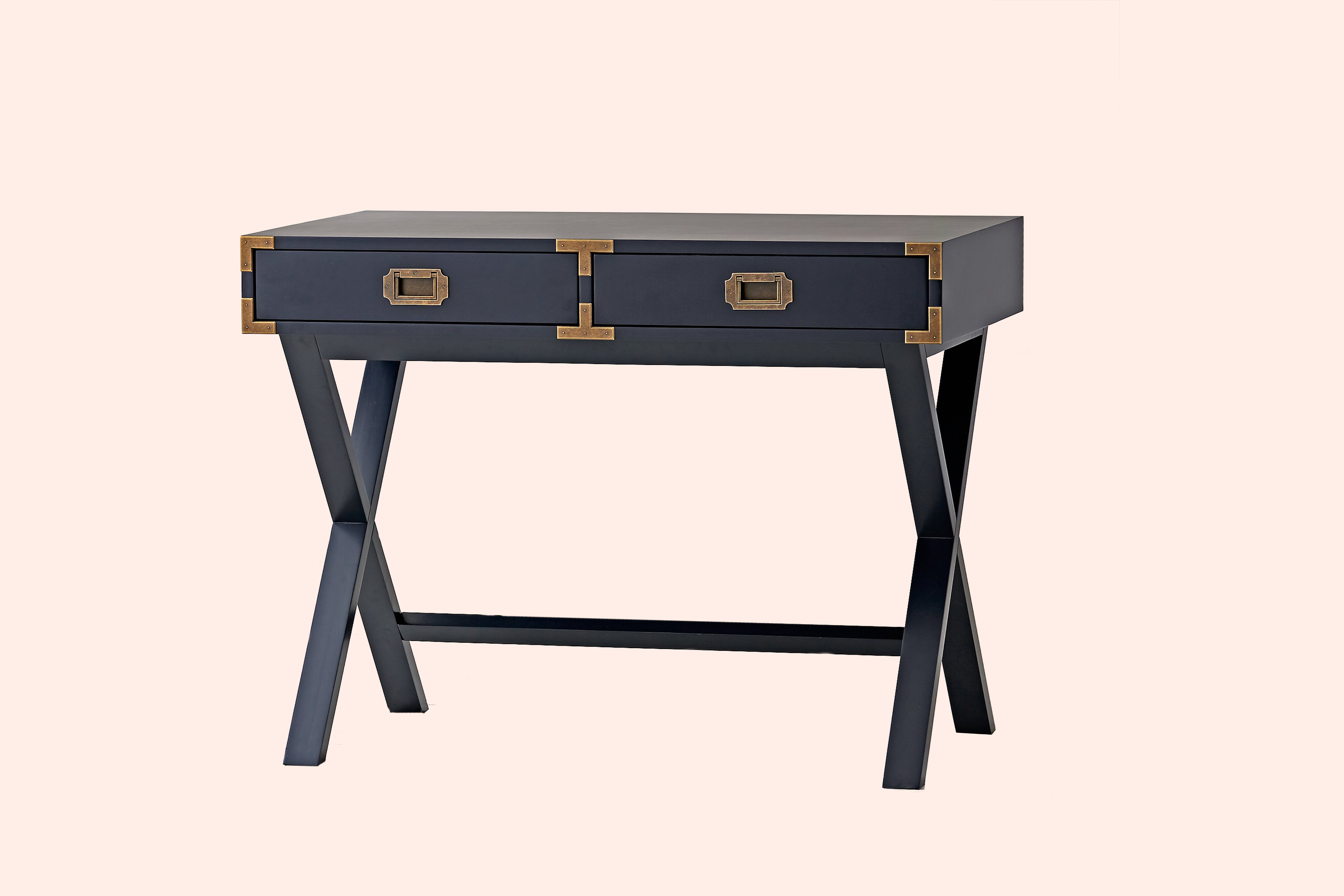 Midnight blue campaign desk from Land of Nod