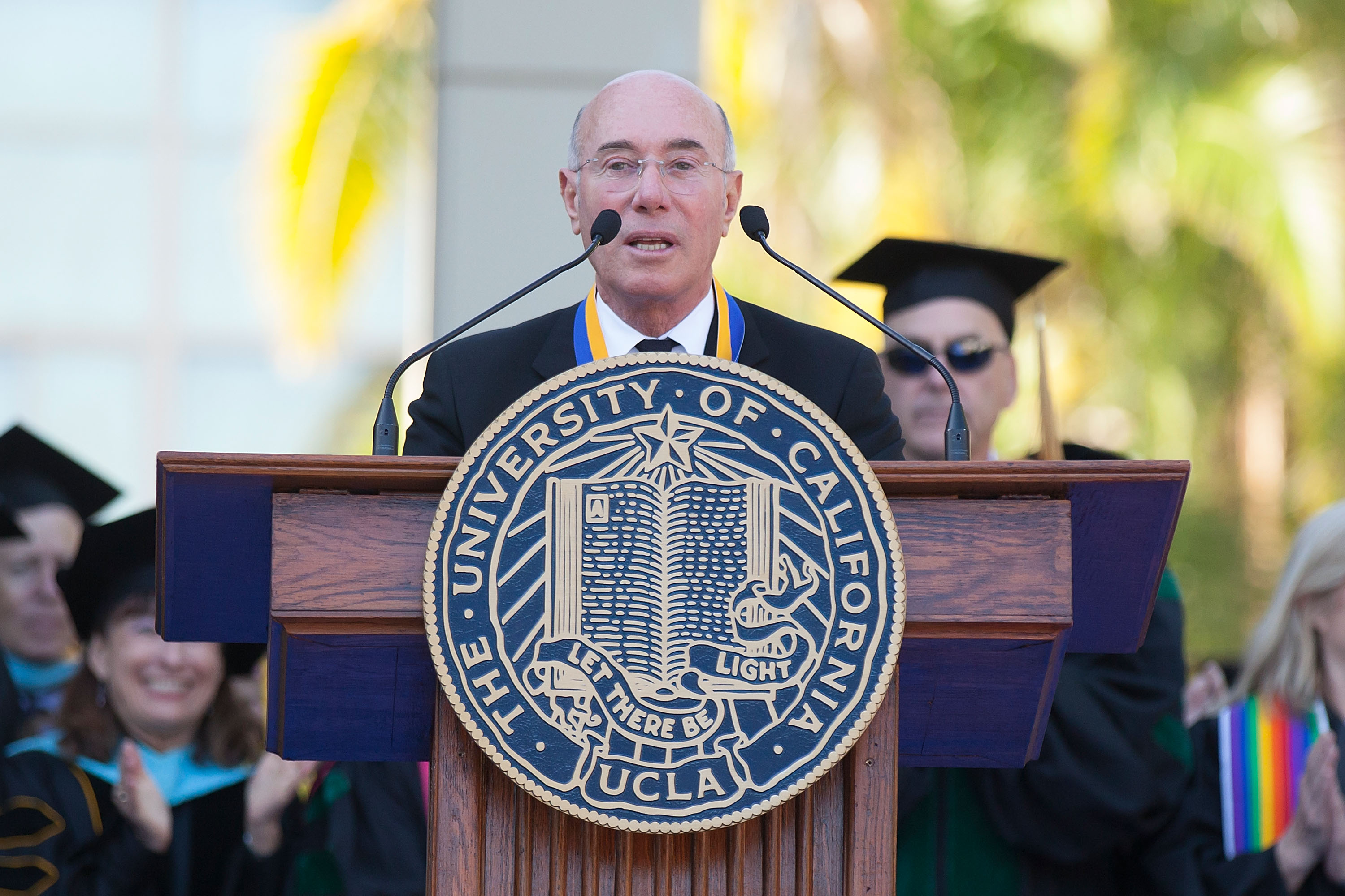 David Geffen Receives The UCLA Medal During UCLA's Hippocratic Oath Ceremony