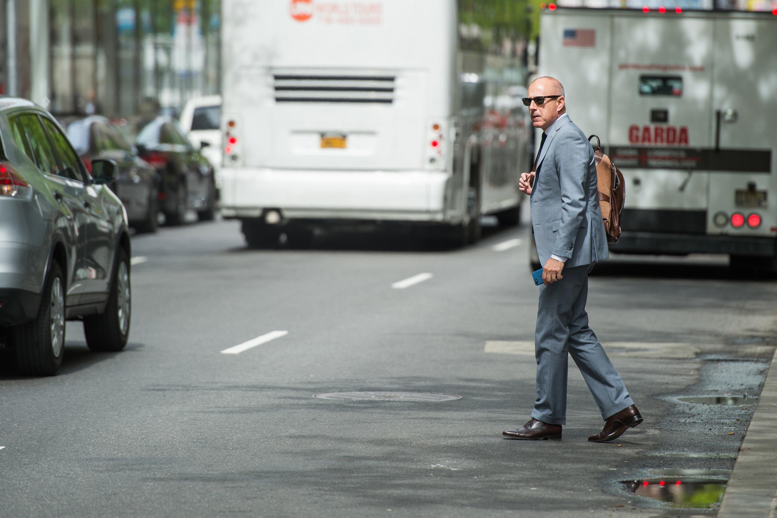 Matt Lauer Streets New York