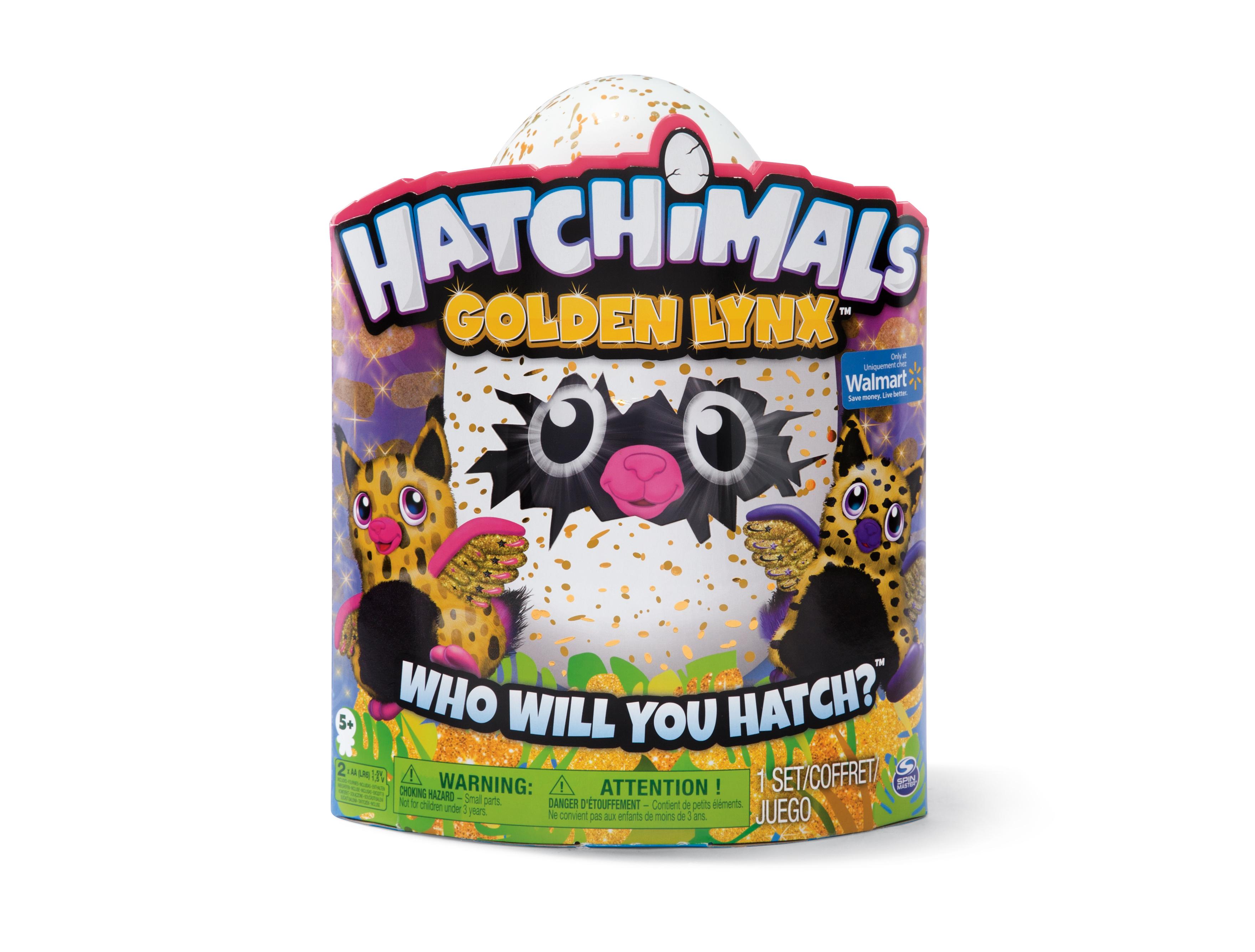 The new Hatchimals Golden Lynx, a Walmart exclusive.