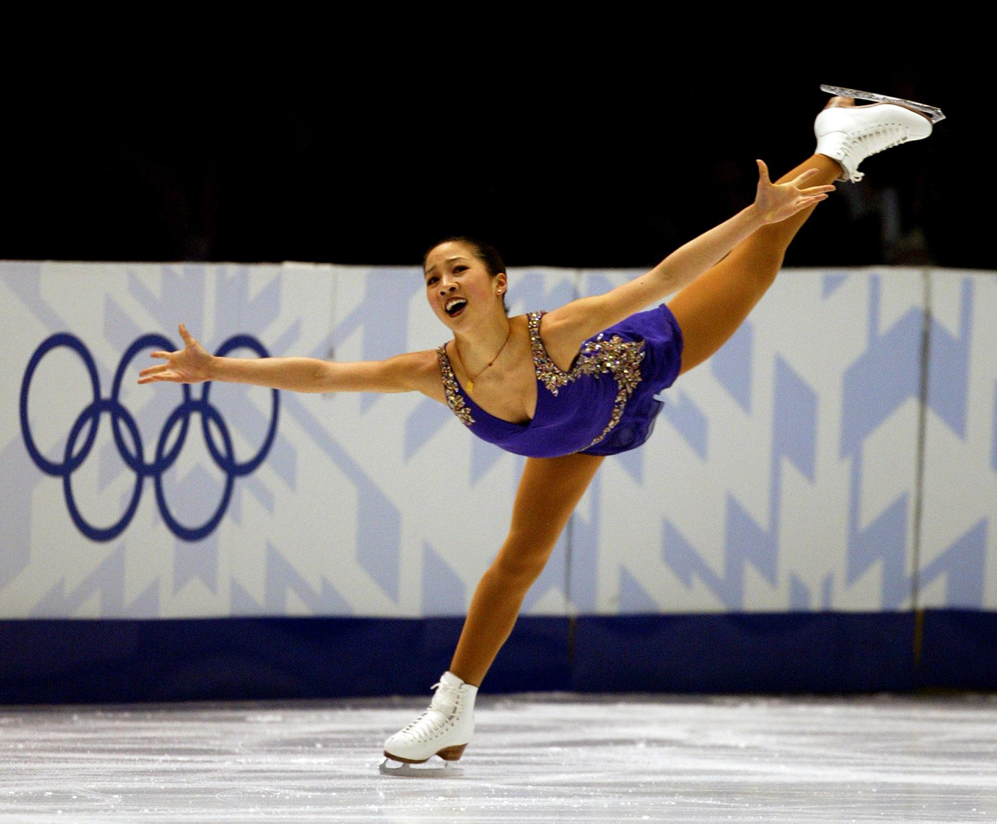 USA's skater Michelle Kwan skates during the first night of the Women's short program in Figure Skat
