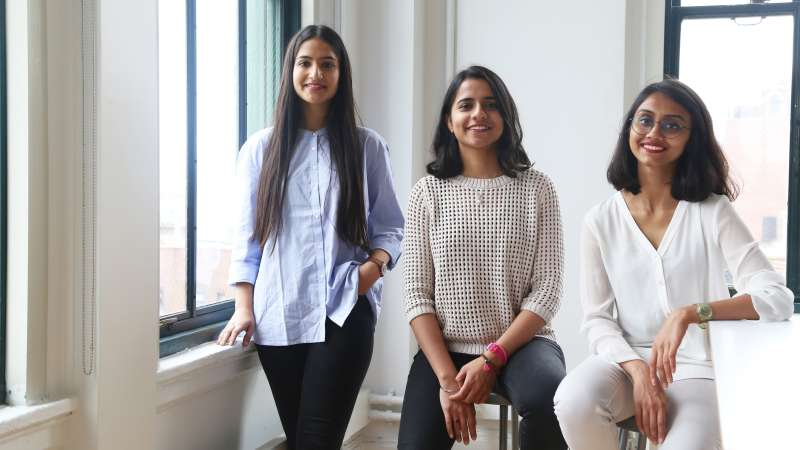 From left to right: Shubham Issar, Amanat Anand, Yogita Agrawal
