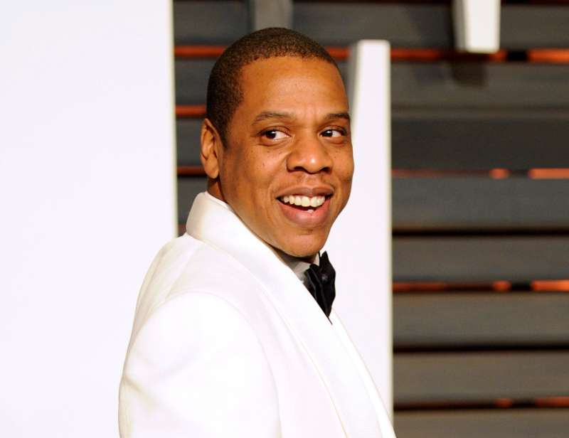 In this Feb. 22, 2015 file photo, Jay Z arrives at the 2015 Vanity Fair Oscar Party in Beverly Hills, California