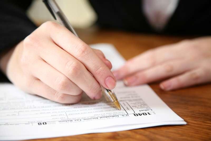 Closeup of 1040 Income Tax Form