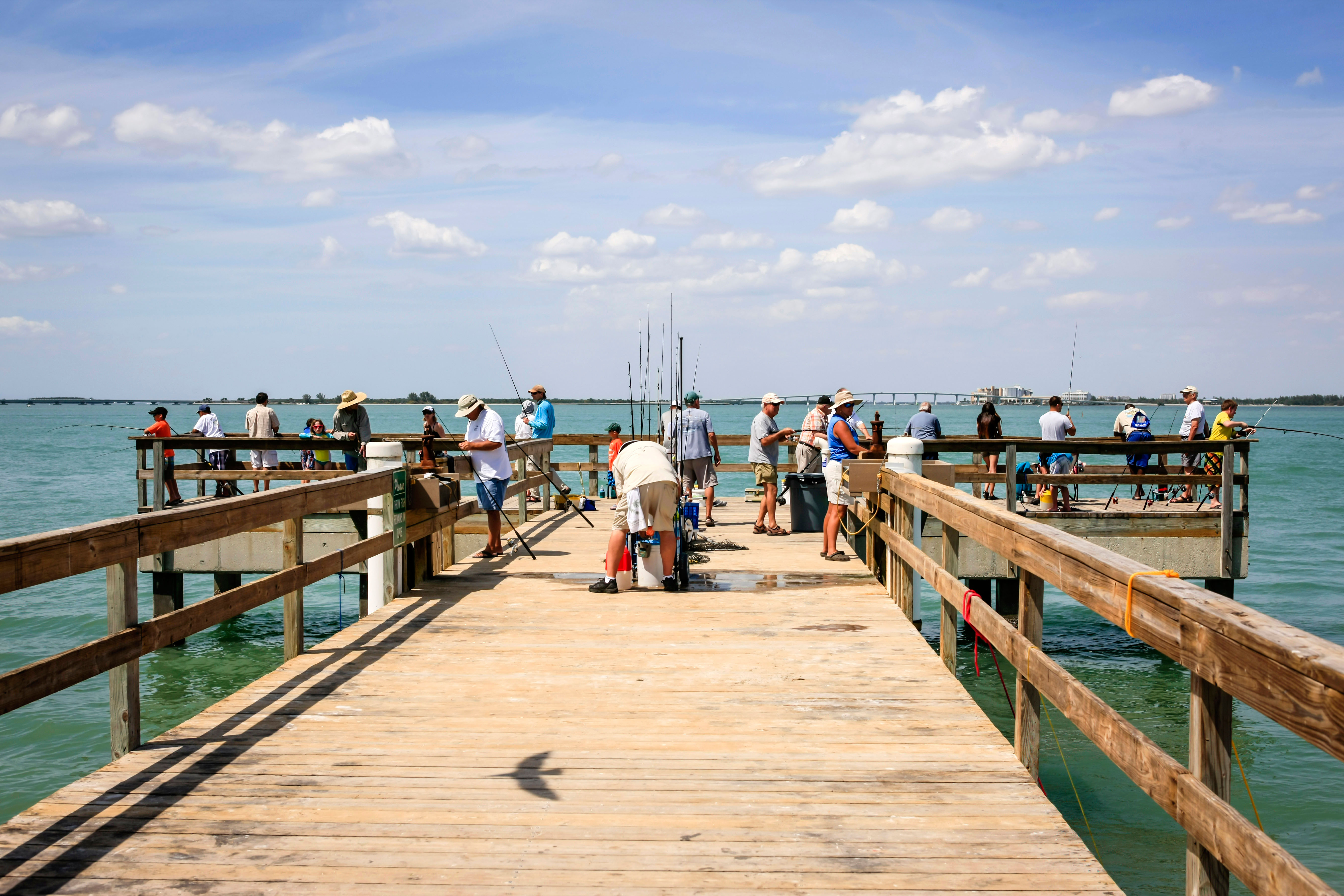 The Fishing Pier on Sanibel island Florida popular with all ages