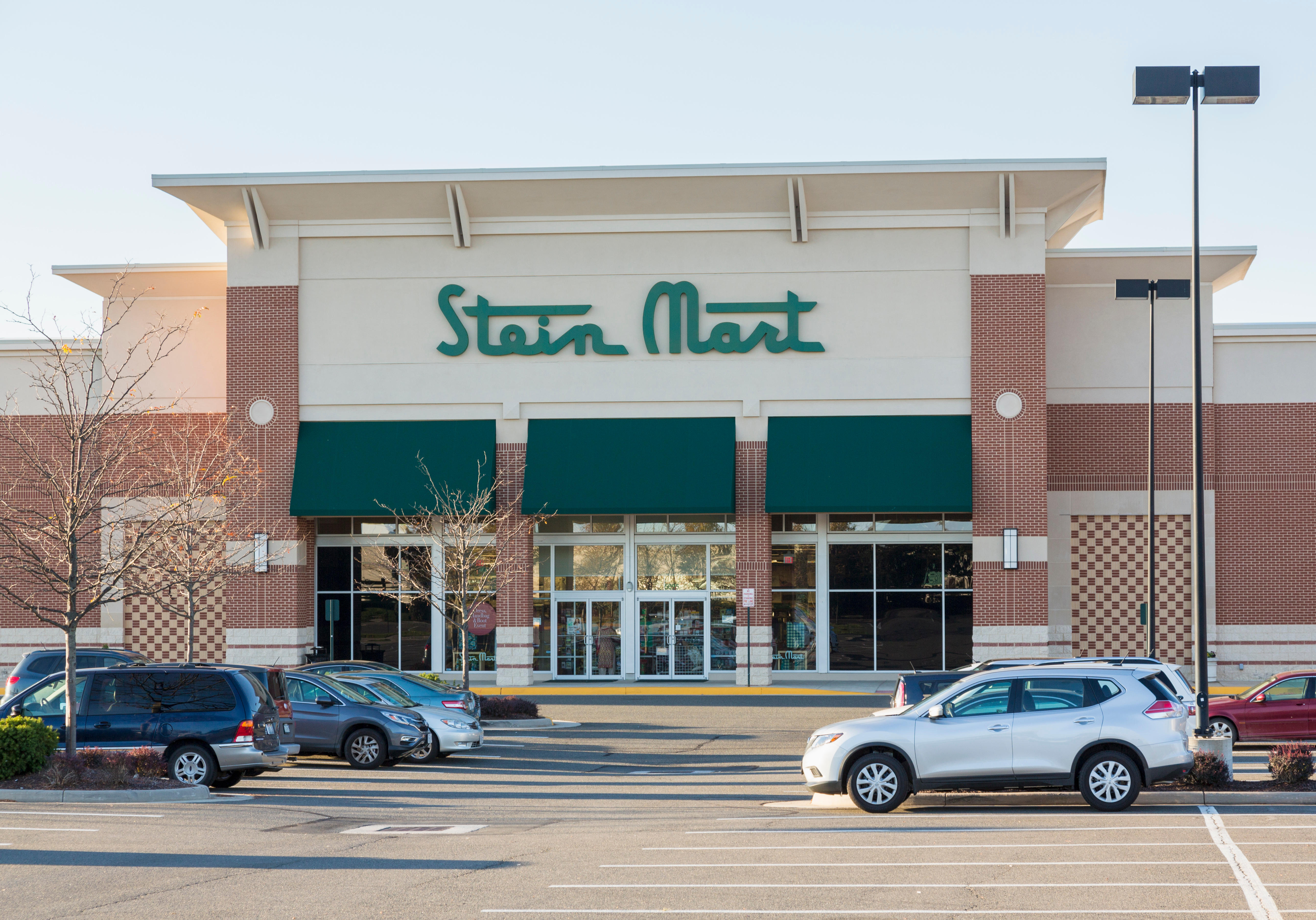 Entrance to SteinMart store or superstore in Virginia Gateway Shopping Center, Gainesville, Virginia, USA